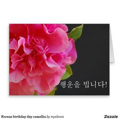 Shop Korean birthday day camellia card created by myslewis. Korean Birthday, Camellia, Custom Greeting Cards, Thoughtful Gifts, Special Events, Birthdays, My Love, Prints, Color