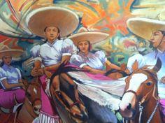Art by Efren Gonzalez of Ajijic inside his art gallery of the same name Mexican Paintings, Mexican Folk Art, Art Gallery, Fine Art, Antiques, Anime, Artist Painting, Fictional Characters, Mexican Art
