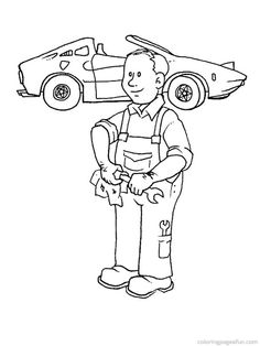 Occupations - 999 Coloring Pages | تلوين المهن | Pinterest ...