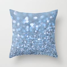 Baby Baby Blue Throw Pillow by Lisa Argyropoulos - $20.00
