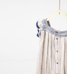 Imagen 4 de Vestido raya tejida de Zara
