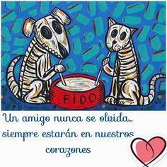 dia de los muertos fido and fifi Memento Mori, Dead Dog, Sugar Skull Art, Sugar Skulls, Day Of The Dead Skull, Candy Skulls, Mexican Folk Art, Skull And Bones, Dog Art