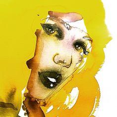 Agata Tkaczyk, Fashion illustration, ink on paper 297 × 420 mm / 300 g.