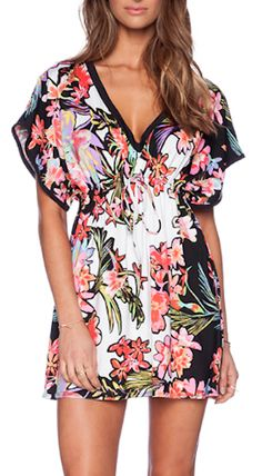 tropical beach cover up