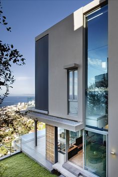 Contemporary house with a view