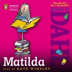 """Another must-listen from my #AudibleApp: """"Matilda"""" by Roald Dahl, narrated by Kate Winslet."""