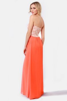 Orange Eyelet Maxi Dress