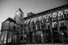 Cathédrale Saint-Etienne de Bourges, noir & blanc