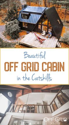 Charming Off Grid A-Frame-Kabine in den Catskills - Off Grid World # aframe A Frame House Plans, Cabin House Plans, Barn Style House Plans, Small Cabin Plans, Small Cabins, Off Grid House, Off Grid Cabin, Off The Grid Homes, Ideas De Cabina