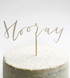 Hooray! Papercut Cake Topper | Whether you're celebrating a birthday, a baby shower, or just ... | Edible Baking Decorations