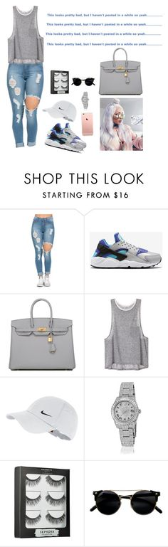 """READ D"" by jadasmith1 ❤ liked on Polyvore featuring NIKE, Hermès, Rolex and Sephora Collection"