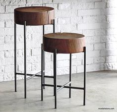 Roost Acacia Slab Side Tables...