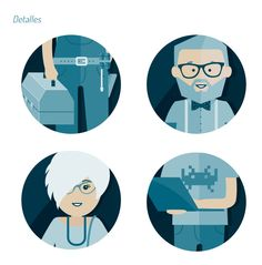 Detalles de las ilustraciones para los carteles de ecommaster #poster #design #illustration #diseño