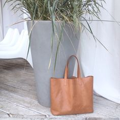 Mivo #simple #leather #shopper #tote in honey #brown :) #bag #style #shopstyle