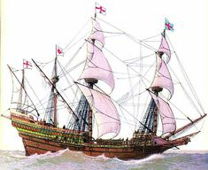 """The new English """"race ship"""" that was so effective against the Spanish Armada of 1588"""