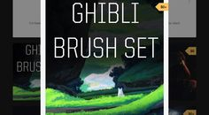 『GHIBLI BRUSH SET』ノスタルジックな背景用Photoshopブラシセット。無料!