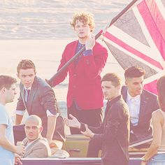 THE WANTED on set for their new video shoot for the song 'I Found You' :D