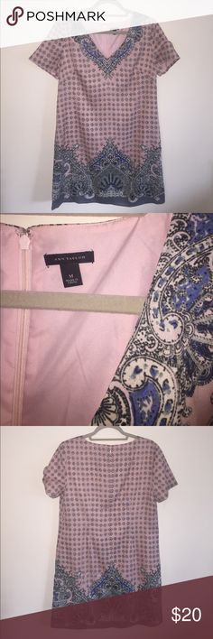Ann Taylor Beautiful Pink Teacup Dress Medium M Beautiful modest dress from Ann Taylor, perfect for Summer, perfect for Easter, and perfect to bring some light into the day! Feel free to make offers or bundle! Ann Taylor Dresses Midi