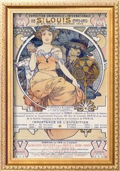 """World's Fair, St. Louis, Missouri, 1904.  Poster is in French.  Note: interest in the World's Fair runs high - Forest Park Community College has a continuing education class """"Re-Living the 1904 World's Fair."""""""