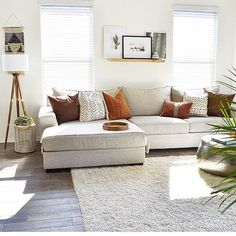 A Modern Apartment Living Room: Home and Interior – Get Yourself a Stylish Living Room That's Fun My Living Room, Living Room Interior, Home And Living, Living Room Furniture, Cozy Living, Long Living Rooms, Neutral Living Rooms, Living Spaces, Living Room Prints