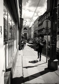 Three shadows on a strange day by Michaela Sibi - Josefstädter Strasse, Vienna, 8th district