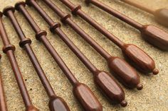Square Rosewood Binche Lace Bobbins by Lacebobbins on Etsy, £16.50