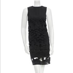 """❗️Sale❗️Acne Laser Cut Sleeveless Dress Black Acne laser cut dress with slip at interior and zip closure at back. Condition: Very Good.                  Measurements: Bust 32"""", Waist 30"""", Hip 34"""", Length 40"""" Fabric Content: Synthenic blend. Marked M but would fit small better. Acne Dresses"""