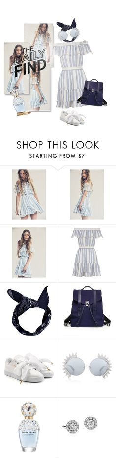 """""""The Daily Find - Elizabeth Striped Dress"""" by ivyargmagno ❤ liked on Polyvore featuring LoveShackFancy, Boohoo, Proenza Schouler, Puma, Linda Farrow, Marc Jacobs, Blue Nile, GetTheLook, DailyFind and women"""
