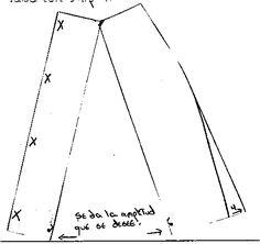 Falda semi-acampanada