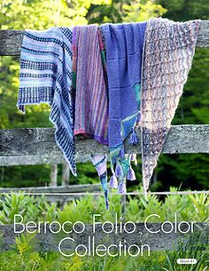 Introducing Berroco Folio Color Collection—four shawl knitting patterns designed for our new yarn Berroco Folio Color.