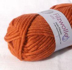 Orange Felting Wool Yarn from CreatedandFelted