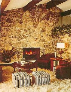 1975, we had this exposed large wooden ceiling beams in our home when I was little :-)
