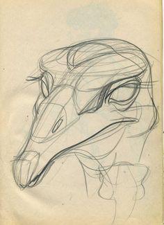 Мартынюк В.Конструктивный рисунок страуса.
