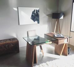 -live tastefully-  Love the natural late afternoon light on this minimalist desk I delivered about a year ago in Seattle.  #pnw #interiordesign #handmade #finefurniture #homeoffice #desk #walnut #loft #luxury #bespoke #furniture #design #office #yyj #yvr