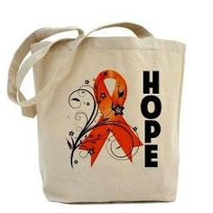 Hope Ribbon Multiple Sclerosis Tote Bag