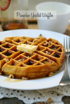 Pumpkin Yeasted Waffles...so amazingly good and super simple too!
