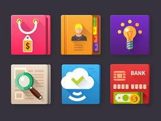 Marketing icon set by Oleg Beresnev