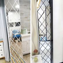 Diamonds Triangles Wall Art Acrylic Mirror Wall Sticker House Decoration DIY Wall Decals Art for Living Room Home Decor