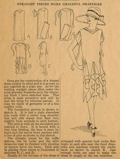 Cascading Drapes - Home Sewing Tips from the 1920s #vestidos #focustextil