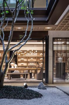 View the full picture gallery of JINKE JiuQu River Modern Chinese Interior, Interior Design Minimalist, Japanese Interior Design, Asian Design, Wabi Sabi, Chinese Tea Room, Chinese Courtyard, Zen Interiors, Tea Lounge