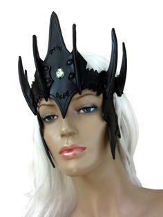 BLACK FRIDAY SALE Dwarf leather crown,circlet,burgundy,black,dwarvish,headband,cuir,larp,costume,fantasy