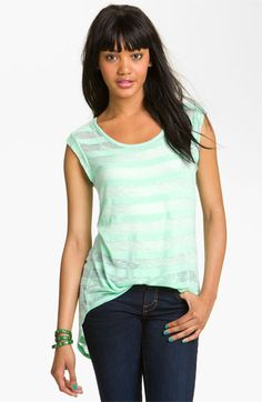 Chloe K Shadow Stripe Tee (Juniors) available at #Nordstrom