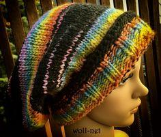 """Beaniemützen - Handmade, Long Beanie-Mütze, gestrickt """"BELIA"""" - ein Designerstück von woll-net bei DaWanda"""