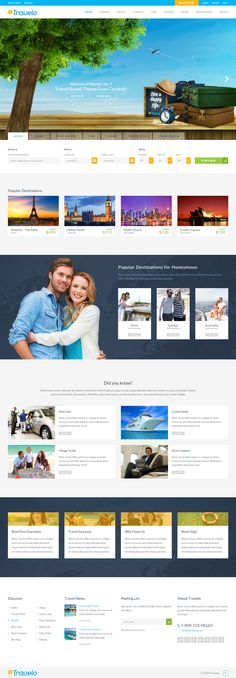 Traveler is a free responsive HTML5 website template based on ...