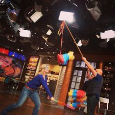 No fiesta is complete without a little piñata fun! #TheChew #BehindTheScenes