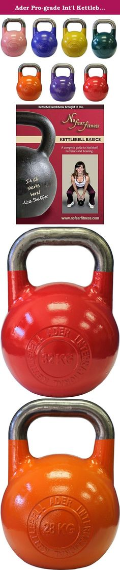 Ader Pro-grade Int'l Kettlebells w/DVD- 7 Pairs(8, 12, 16, 20, 24, 28, 32kg). Picture for reference only, logo may vary. Ader kettlebells feature some of the best designs on the market, including wide handles with a smooth finish and wide flat bottoms for stability during push-ups and other floor exercises. These are all cast steel with no welding. Ship out 2-7 days.