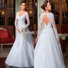 Cheap dress khaki, Buy Quality dress up party decorations directly from China dress up summer fashion Suppliers: Vestido de festa New Arrival Hot sale Custom made Long sleeve Lace wedding dresses 2017Romantic Wedding dress Pl