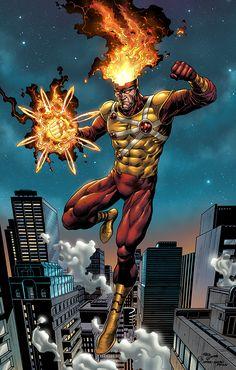 Cartoons And Heroes Arte Dc Comics, Dc Comics Superheroes, Dc Comics Characters, Marvel Comics, Comic Book Heroes, Marvel Heroes, Comic Books, Comic Art, Firestorm Dc