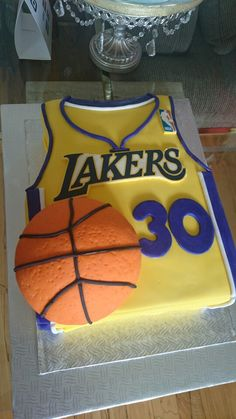 Lakers Cake The Dough Puncher Cake Birthday Cake