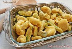 Le verdure pastellate al forno sono un gustoso contorno ad ogni pietanza sia di carne che di pesce. Ottime con gli antipasti e finger food.
